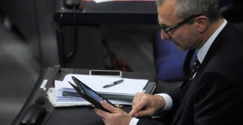 Volker Beck twitter im Bundestag