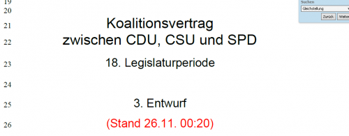 Download: Koalitionsvertrag (3. Entwurf)