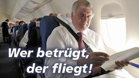 Wer betrügt, der fliegt!